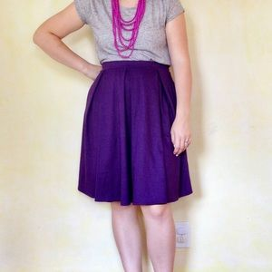 LuLaRoe Purple Sparkle Madison Stretch Skirt 3XL